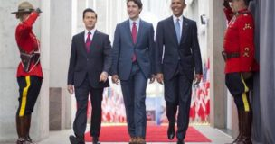 APTOPIX Obama US Canada Mexico