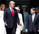 Mr Trump met Emperor Naruhito