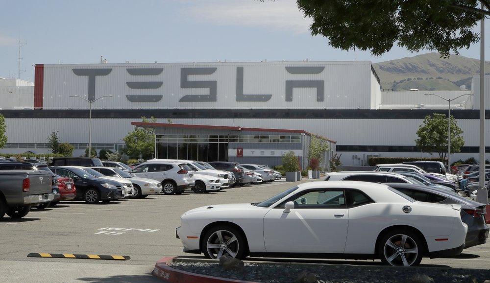Tesla car plant Monday