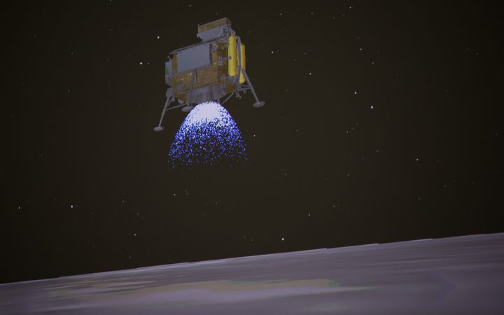 Probe On The Dark Side Of The Moon
