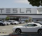 Tesla car plant Monday